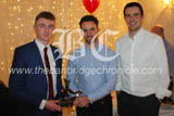CS1812818 Sean Mc Avoy receives Reserve Player of the Year alomgside manager Gerald Fegan