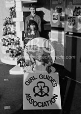 C1805112 bygone february 1985 girl guides display