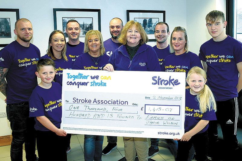 £1,415 donation to stroke charity in Jamie's memory