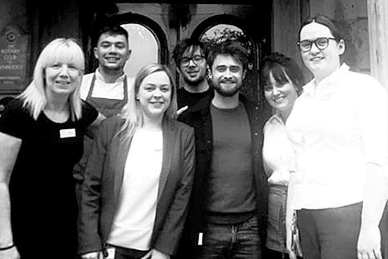 Harry Potter star enjoys spot of lunch in Belmont