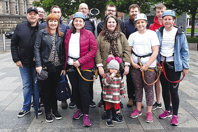 Brave Paula and pals in 'zipline zone' for hospice
