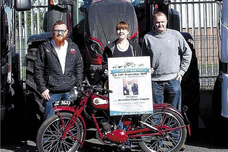 Charity truck and tractor run in David's memory