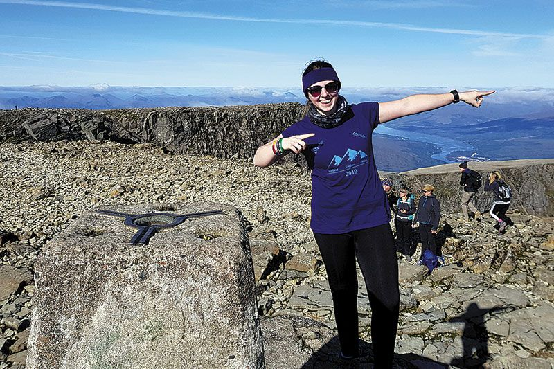 Caring Kelly conquers three peaks for charity