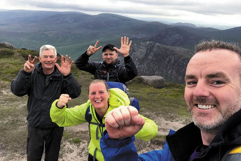 Family mark Jamie's 37th birthday by completing Mournes challenge