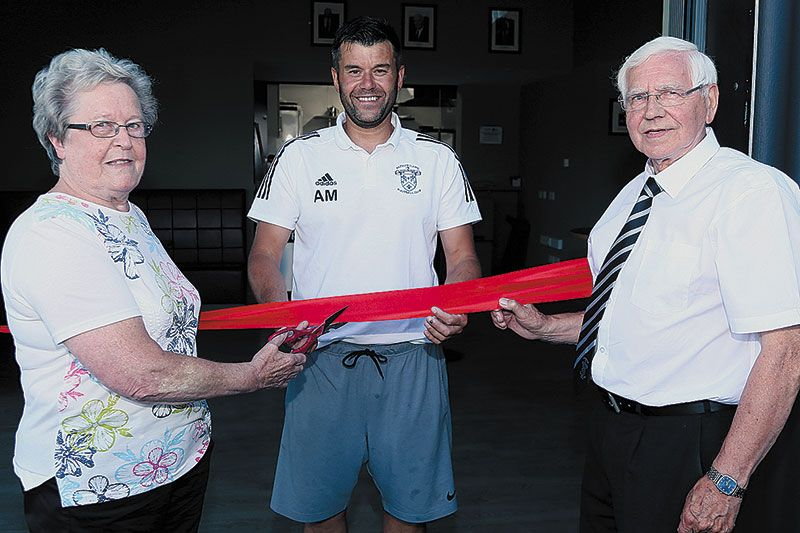 Rathfriland FC Community hub officially opened