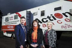 All aboard as Action Cancer Big Bus comes to Banbridge