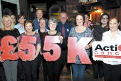 Fantastic £55,000 raised for Action Cancer