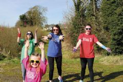 Splash of colour as Academy hosts a charity run
