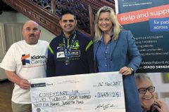 Mark 'runs up' tremendous £2,465 for kidney charity