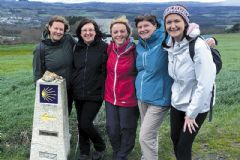 'Famous Five' back from Santiago trek
