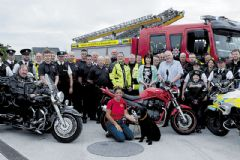 Police and bikers recall an absent friend