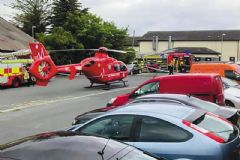 Air Ambulance NI was tasked to tragic scene