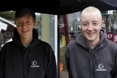 James and Colin's close shave for Marie Curie