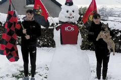 Down-themed snowman creations in 'ice-olation'